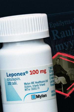 Kuvituskuva: Leponex-lääkepurkki