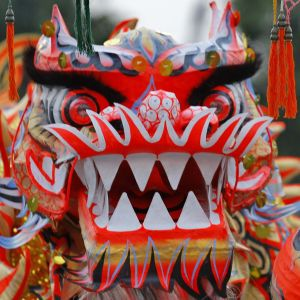 Det nya året firas med drak- och lejondanser.