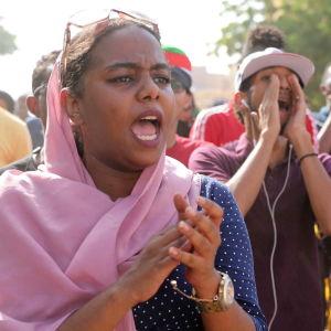 Den 21 november hölls en demonstration i Khartoum där man krävde att islamistiska NCP-partiet skulle upplösas.