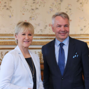 Margot Wallström och Pekka Haavisto