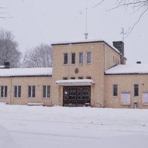 Busstationen i Lovisa vintern 2019