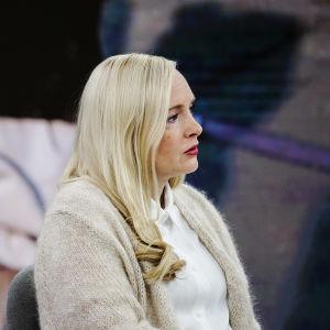 Maria Ohisalo som gäst i Yles morgonprogram den 19 augusti 2021.