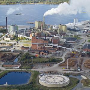 Stora Ensos pappersfabrik i Kemi.