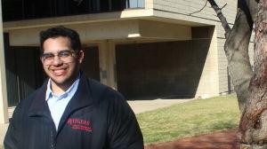 Janio Perez på campuset på Rutgers University i Newark, New Jersey,