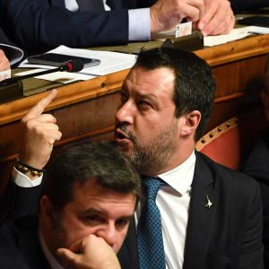 Matteo Salvini talar i senaten 12.2.2020