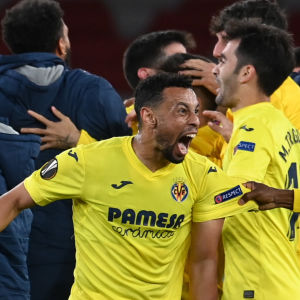 Villarreal firar i Europa League.