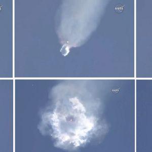 Rymdraketen Falcon 9 exploderar 28.6.2015.
