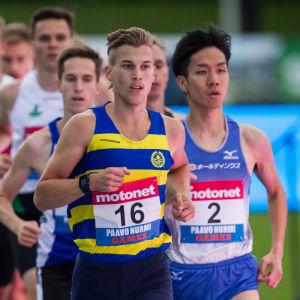Filiph Johansson springer, 2016.