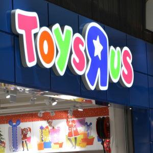 Leksaksaffären Toys 'r' us logga.