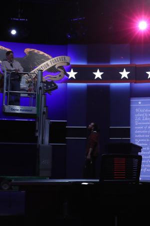 Presidentvalet i USA - tv-debatt förbereds.