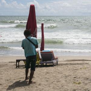 Stranden i Kuta, Bali.