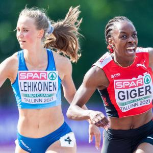 Viivi Lehikoinen springer i U23-EM.
