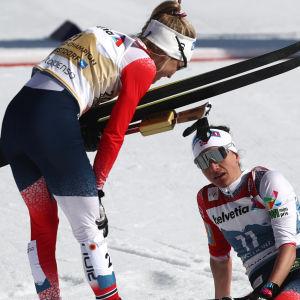 Therese Johaug och Heidi Weng.