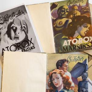 Atorox-kirjojen kansia