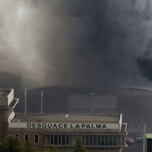 betongfabrik brinner