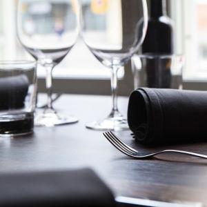 En dukning i en restaurang i Kuopio.