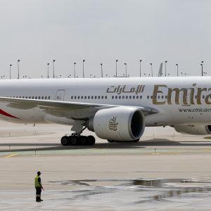 Emirates Boeing 777-200LR.