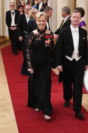 Eva Biaudet på slottsbalen 2016.