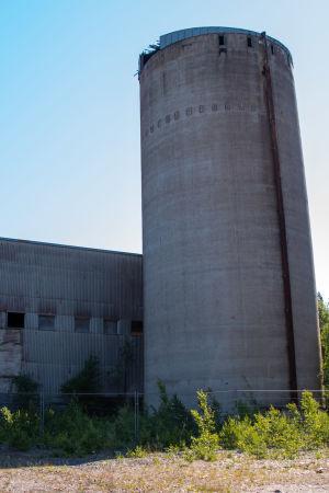 Filtreringsbyggnaden vid Jussarö gruva