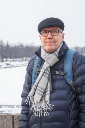 Porträtt på Pekka Ikonen som blev voxpoppad på Långa bron i Hagnäs.