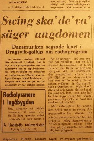 En gammal tidningsartikel.
