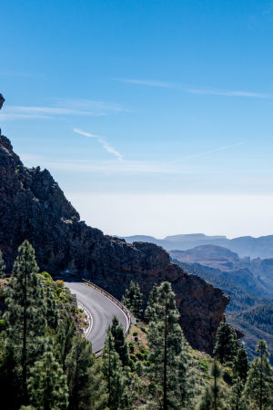Vuoristotie Gran Canarialla.