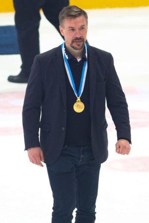 Kalle Sahlstedt har fått sin guldmedalj.