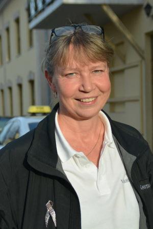 Taxichaufför Lenita Lindholm.