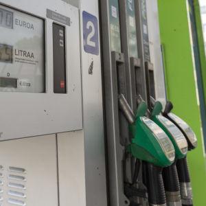 Bränslepump vid en Neste-station