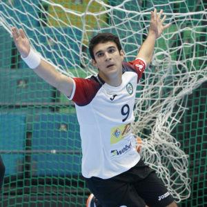 Aleksa Veselinovic firar mål.