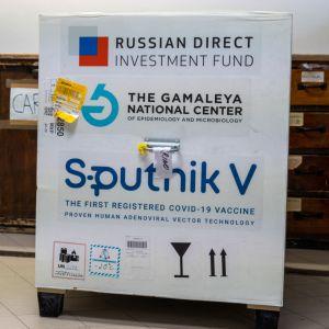 Förråd med ryskt Sputnik V-vaccin.