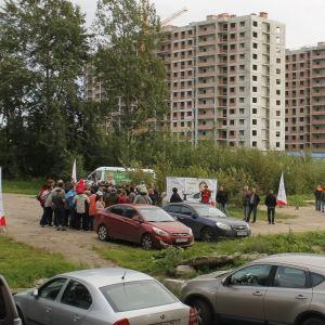 Jablokos valmöte inför dumavalet den 18 september 2016.