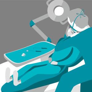 Kuvituskuva hammaslääkärin vastaanotosta
