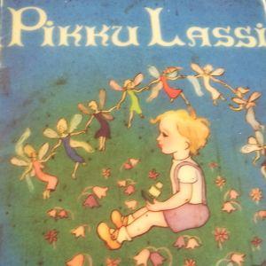 En del av pärmen till Topelius Lasse, Lasse liten i finsk version. Gunnel Wahlfors omslag. WSOY 1955.