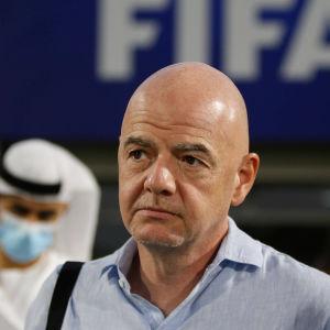 Gianni Infantiono, en ofta kritiserad Fifa-president.
