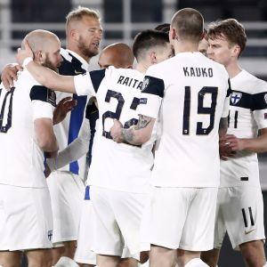 Finland jublar efter mål.