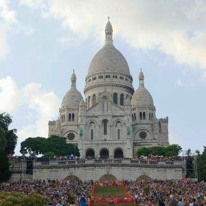 Sacré-Cœur på Montmartre i Paris.