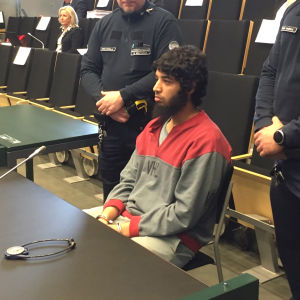 Marockanen Abderrahman Bouanane i rätten.