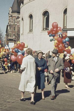 Valborgsfirande i Helsingfors 1960.