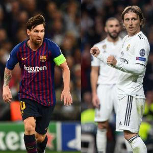 Lionel Messi, Luka Modric, Paul Pogba och Cristiano Ronaldo.