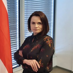 Svetlana Tichanovskaja i Vilnius i april 2021.