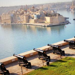Utsikt över Stora hamnen i Valletta.