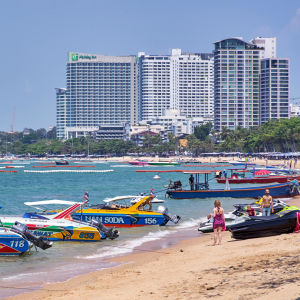 Stranden i Pattaya.