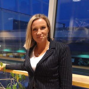 Direktör Paula Erkkilä vid Österbottens handelskammare.