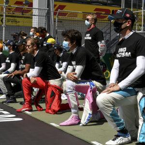 Manifestation mot rasism inför Österrikes GP.