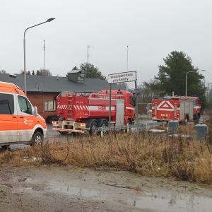 Mikkelin Kenkäverossa sijaitseva vedenpuhdistamo. Onnettomuuskuva.
