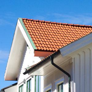 Småhustak och del av fasad