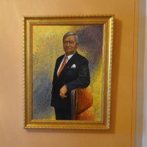 Porträtt av Tom Westergård, Vasa läns sista landshövding.