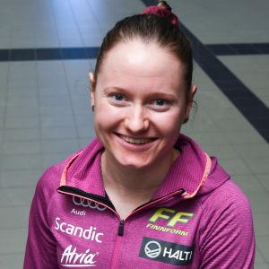 Eveliina Piippo och Johanna Matintalo under landslagets pressträff i oktober.
