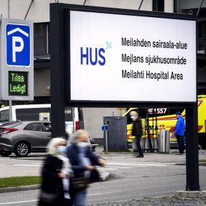 Mejlans sjukhusområde i Helsingfors den 7 oktober 2020.